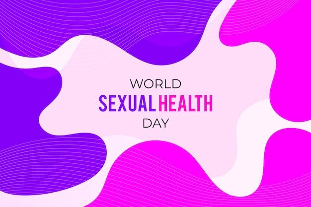 Abstrakter hintergrund des welttages der sexuellen gesundheit
