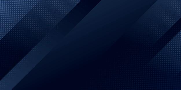 Abstrakter hintergrund dunkelblau mit moderner silberner linie streift dekoration