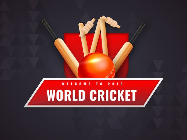 Abstrakter hintergrund für cricket-weltmeisterschaft