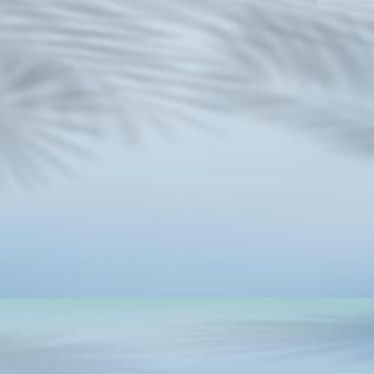 Abstrakter hintergrund für die darstellung mit schatten der blätter. vektor-illustration