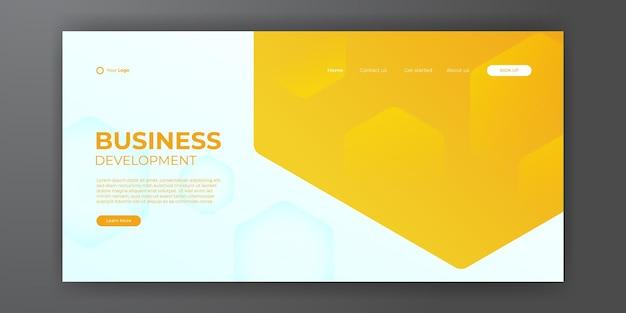 Abstrakter hintergrund für die zielseiten-webvorlage. trendige abstrakte designvorlage. dynamische farbverlaufskomposition für cover, broschüren, flyer, präsentationen, banner. vektor-illustration.