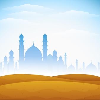 Abstrakter hintergrund für eid mubarak