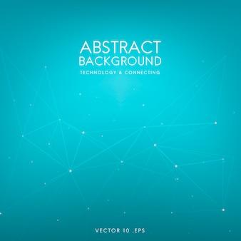 Abstrakter hintergrund für technologie im blau