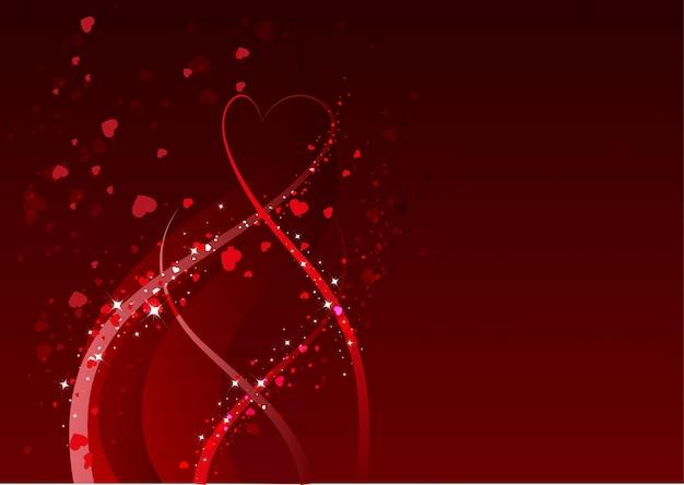 Abstrakter hintergrund für valentinstag. rotes herzsymbol der liebe