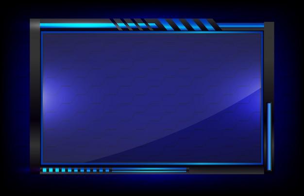 Abstrakter hintergrund futuristisch von der hud-gui-anzeigetechnologie