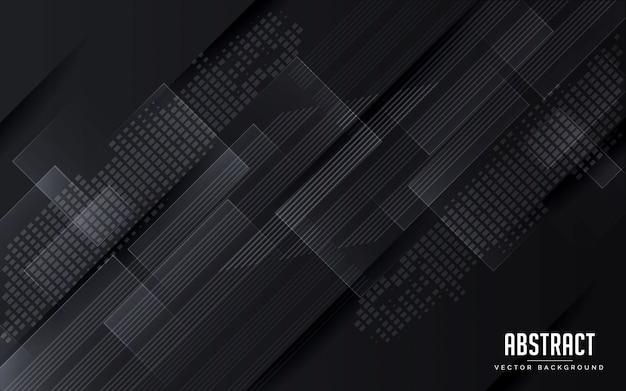 Abstrakter hintergrund geometrische schwarze und graue farbe modern