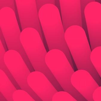 Abstrakter hintergrund. hintergrundelement in wirbelperspektive. tapete mit glattem verlaufsrohr. rosa strukturzotten im medizinstil.
