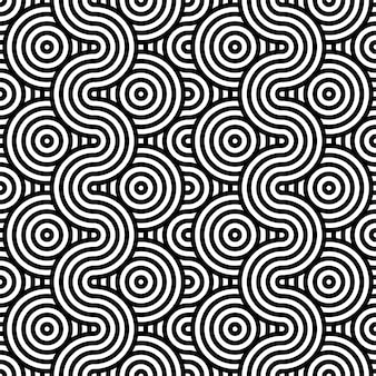 Abstrakter hintergrund in schwarzweiss mit gewellten linien muster