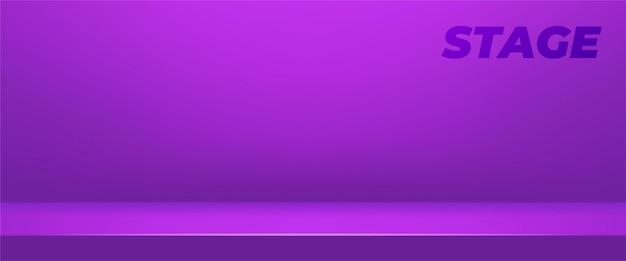 Abstrakter hintergrund. lila leerer studioraum für produktanzeige. ausstellungsraum