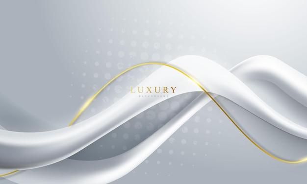 Abstrakter hintergrund luxus weißgold modern