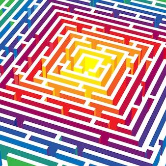 Abstrakter hintergrund mit 3d vektorlabyrinth