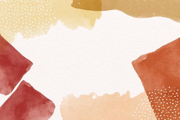 Abstrakter hintergrund mit aquarellformen und leerem raum