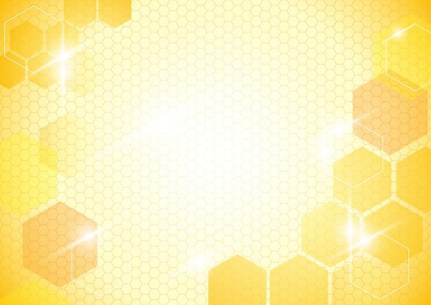 Abstrakter hintergrund mit bienenwaben