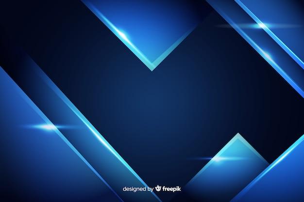 Abstrakter hintergrund mit blauem metallischem effekt
