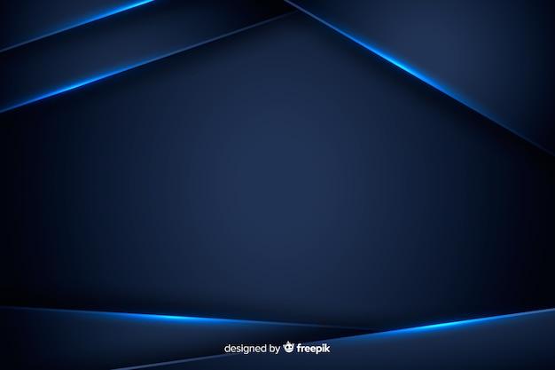 Abstrakter hintergrund mit blauen metallischen formen