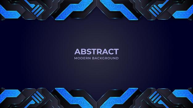 Abstrakter hintergrund mit blauen und schwarzen formen