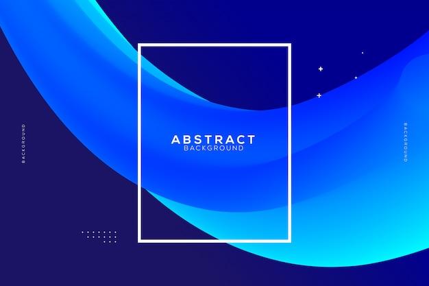Abstrakter hintergrund mit blauer flüssiger form