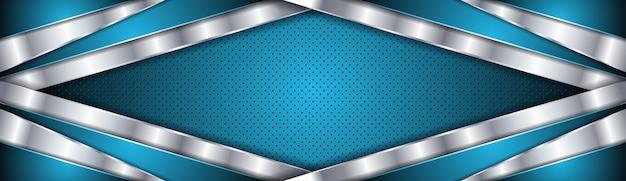 Abstrakter hintergrund mit blauer und silberner luxusfarbe