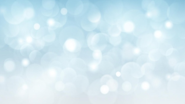 Abstrakter hintergrund mit bokeh-effekten in hellblauen farben