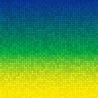 Abstrakter hintergrund mit brasilien-flaggenfarben