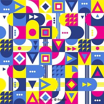 Abstrakter hintergrund mit buntem geometrischem mosaik