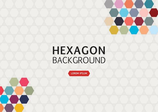 Abstrakter hintergrund mit buntem hexagon