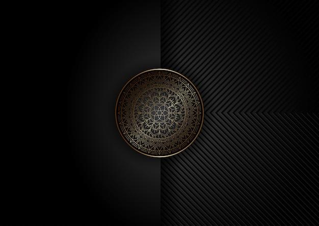 Abstrakter hintergrund mit dekorativem mandala-design