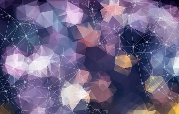 Abstrakter hintergrund mit dreieckigen zellen für design.