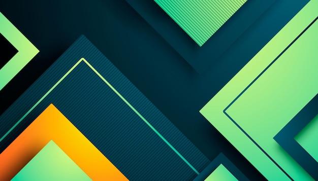 Abstrakter hintergrund mit dreiecksdimensionen