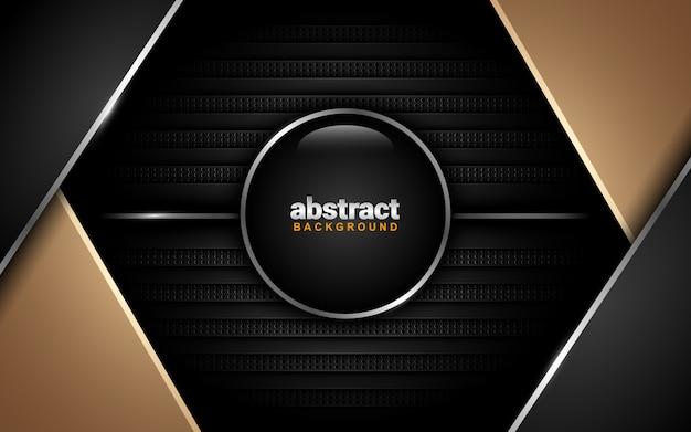 Abstrakter hintergrund mit dunklem farbschema: überlappungs-ebenenstil