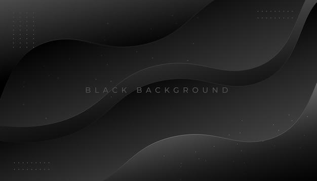 Abstrakter hintergrund mit dunklen minimalen wellen