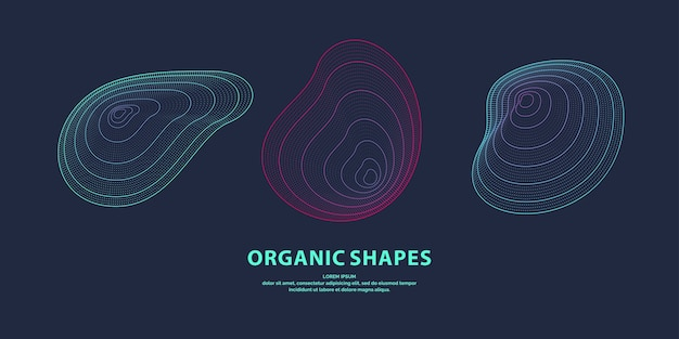 Abstrakter hintergrund mit dynamischen linearen wellen. illustration im minimalistischen stil