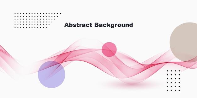 Abstrakter hintergrund mit dynamischen linearen wellen. vektor-illustration minimalistischer stil wellenfluss