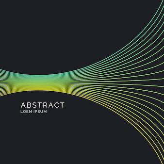 Abstrakter hintergrund mit dynamischen linien. abbildung geeignet für