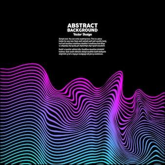 Abstrakter hintergrund mit einem farbigen dynamischen wellenvektor