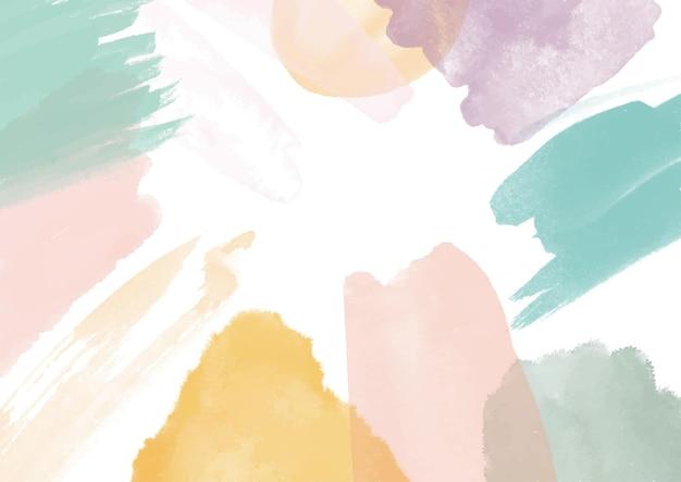 Abstrakter hintergrund mit einem handgemalten aquarellentwurf