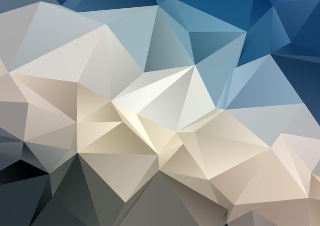 Abstrakter hintergrund mit einem low-poly-design