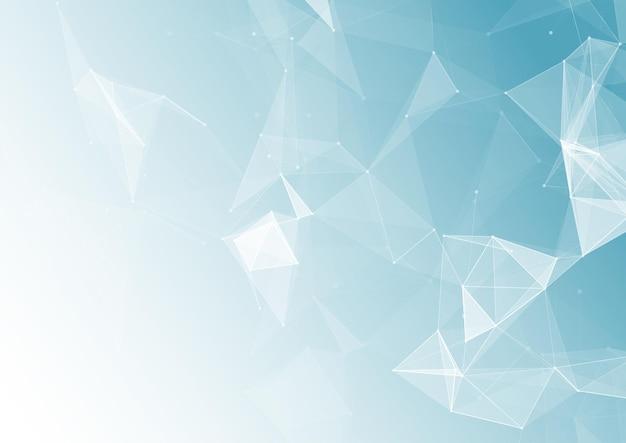 Abstrakter hintergrund mit einem low-poly-technologiedesign
