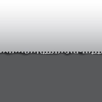 Abstrakter hintergrund mit einem zerrissenen papierentwurf