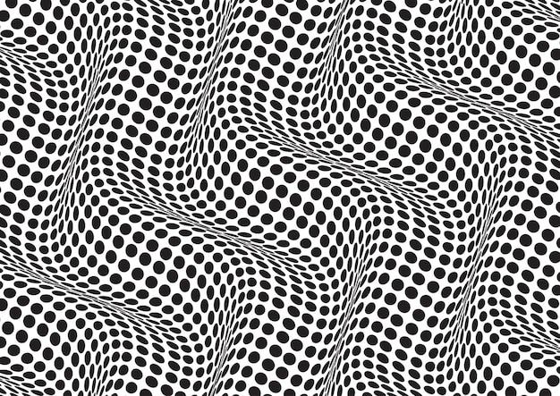 Abstrakter hintergrund mit einer optischen täuschung des schwarzweiss