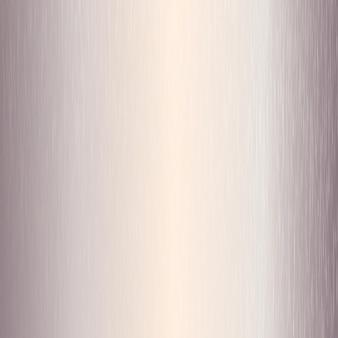 Abstrakter hintergrund mit einer roségoldenen gebürsteten metallstruktur