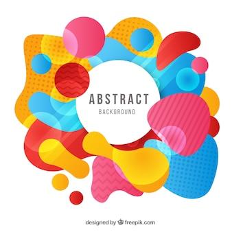 Abstrakter hintergrund mit farbigen formen