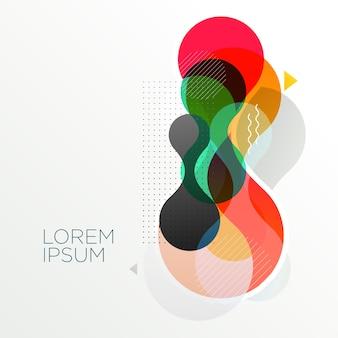 Abstrakter hintergrund mit farbigen runden element