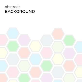 Abstrakter hintergrund mit farbsechskantelementen. vektor-illustration.