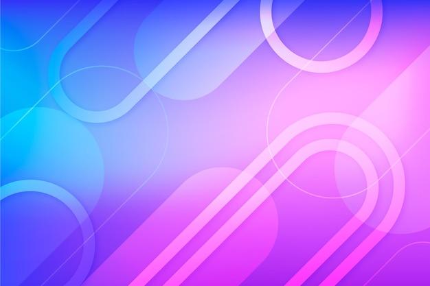 Abstrakter hintergrund mit farbverlauf mit formen
