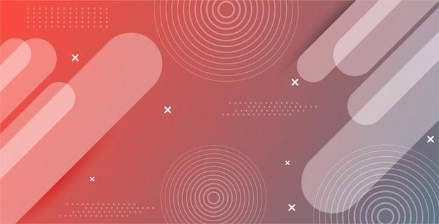 Abstrakter hintergrund mit farbverlauf mit moderner geometrischer form