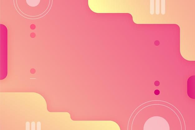 Abstrakter hintergrund mit farbverlauf mit verschiedenen formen