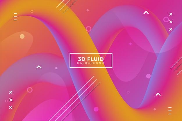 Abstrakter hintergrund mit fließenden formen 3d