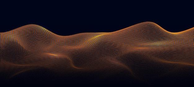 Abstrakter hintergrund mit fließenden partikeln 3d abstraktes scifi-benutzeroberflächenkonzept