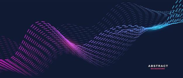 Abstrakter hintergrund mit fließenden partikeln